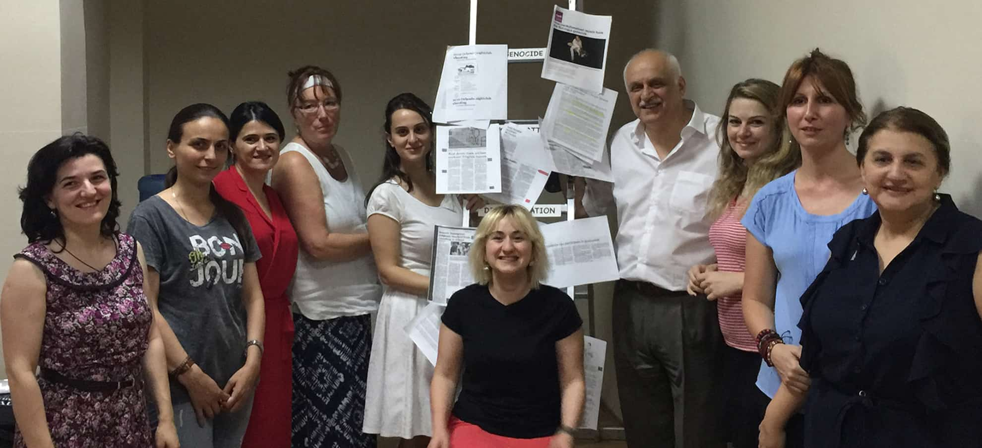Teachers after a workshop based on the Ladder of Prejudice: From Name Calling to Genocide.